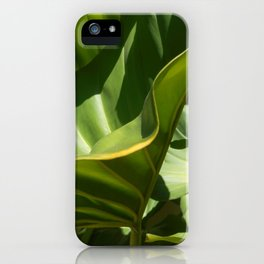 On the Edge, tropical plant study iPhone Case