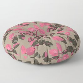 Philodendron Pink Princess Rare Tropical Houseplant Pattern Floor Pillow