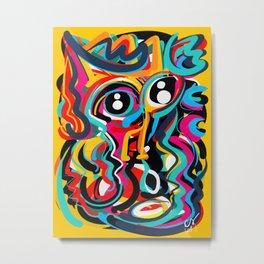 Yellow Street Art Neo Expressionist Portrait of the artist Metal Print