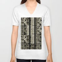 data V-neck T-shirts featuring DATA by lucborell
