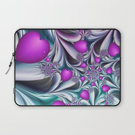 Love makes happy Fractal Art Laptop Sleeve