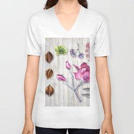 Botanica Plants and Flowers II Unisex V-Neck