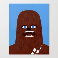 chewbacca Canvas Prints featuring Chewbacca by Jack Teagle