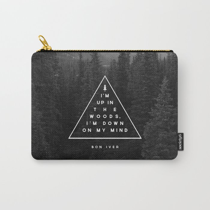 woods bon iver carry all pouch by zeketucker society6. Black Bedroom Furniture Sets. Home Design Ideas