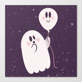 Pink Ghost and Friend Canvas Print