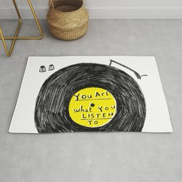 you are what you listen to, YELLOW Rug
