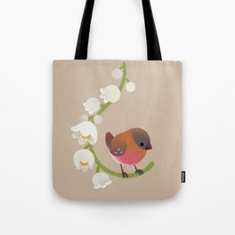 Brown-capped rosy finch Tote Bag