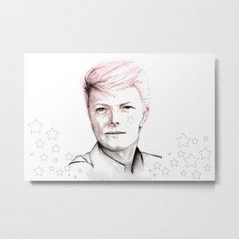 David Bowie Starman Metal Print