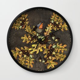 History of the autumn forest+5 Wall Clock