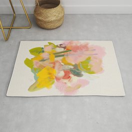 floral abstract spring bouquet Rug