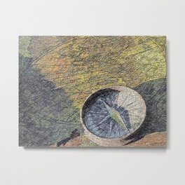 map with wind rose Metal Print