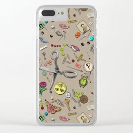 Junk Drawer Clear iPhone Case