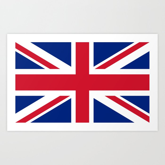 Union Jack Authentic Color And 3:5 Scale Art