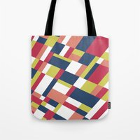matisse Tote Bags featuring Map Matisse Stretched by Project M