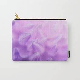 Pearl Petal Kiss | pink flower, pastel flowers, purple floral pattern, cute dahlia petals, macro Carry-All Pouch