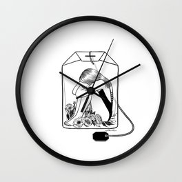 Lady Grey Tea Wall Clock