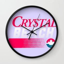 CRYSTAL BEACH Wall Clock