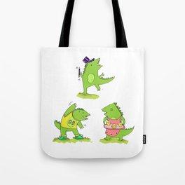Godzilla's hobbies Tote Bag