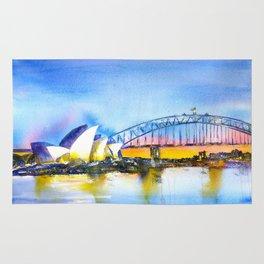 Sydney Harbour Sunset Rug