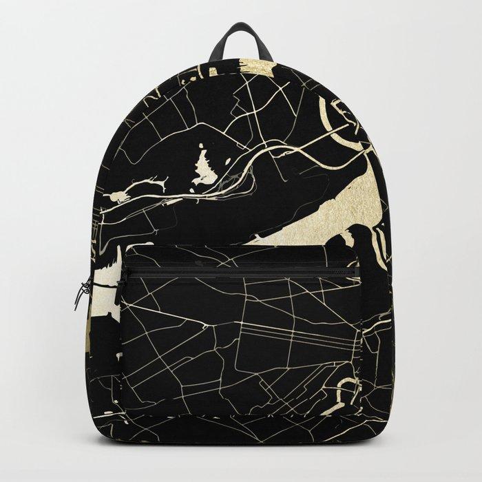Philadelphia - Black and Gold Backpack