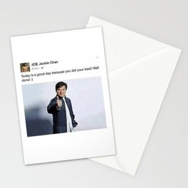 Jackie Chan Facebook Post Greeting Card Stationery Cards