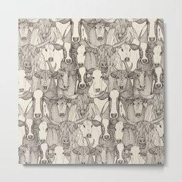 just cattle natural Metal Print