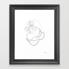 One line Luigi Framed Art Print