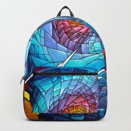 Tardis stained glass style Backpack