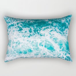 Ocean waves from above Rectangular Pillow