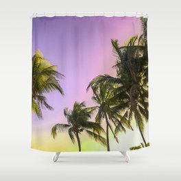 PURPLE AND GOLD SKIES 2 Shower Curtain