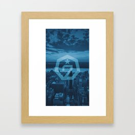 GOT7 Blue Logo - Heptagon Logo Framed Art Print