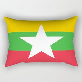 flag of Myanmar Rectangular Pillow