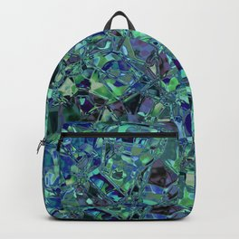 Blue And Green Stained Glas Backpack