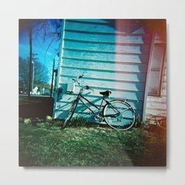 Lonely Bicycle Metal Print