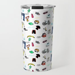 Triathlon Doodles Travel Mug