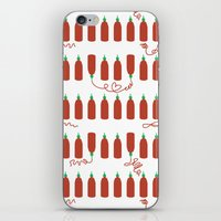 sriracha iPhone & iPod Skins featuring That Sweet Heat by Volkstricken