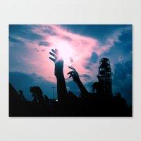 concert Canvas Prints featuring Concert by Leah Galant