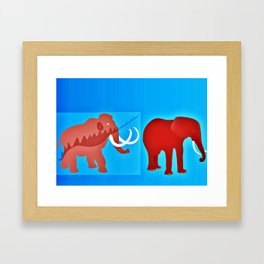 Ice age evolution Framed Art Print