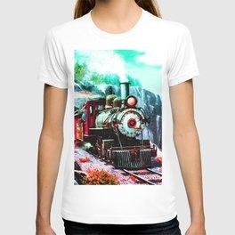 starry night train T-shirt