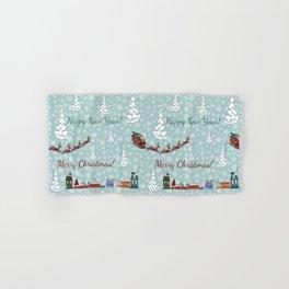 santa reindeer team SB12 Hand & Bath Towel