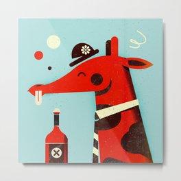 Drunk giraffe ... Metal Print