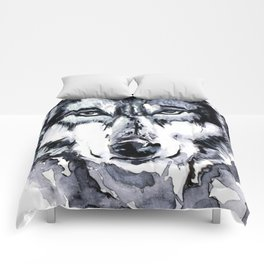 Abstract Wolf - Zoomed Comforters