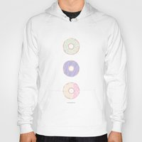 donuts Hoodies featuring Donuts by Alexandra Aguilar