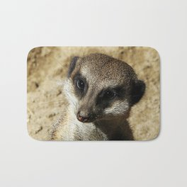 MM - Meerkat portrait Bath Mat
