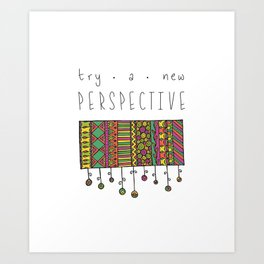 perspective - gypsy Art Print