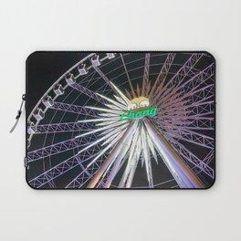 Bright Ferris Wheel in the Night Laptop Sleeve