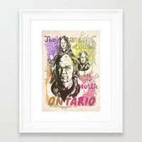neil young Framed Art Prints featuring Portrait of Neil Young by ghillustration