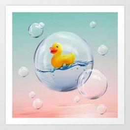 The Bubble Ducky Art Print