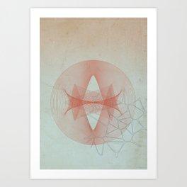 Abstract Scene - Sun Art Print