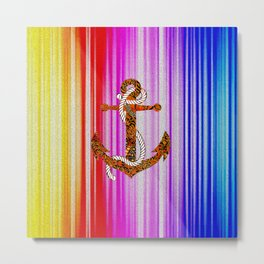anchor of rainbow Metal Print